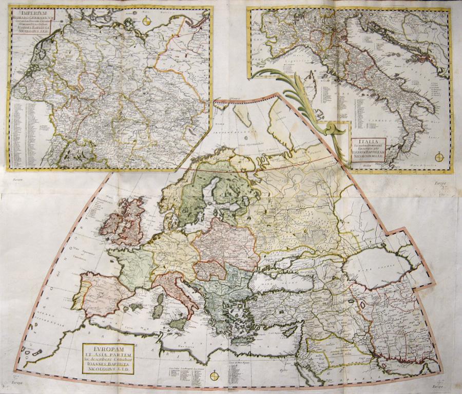 Nicolosi  Europam et Asiae Partem / Imperium Romano-Germanicum / Italia Secundum Dominatus..