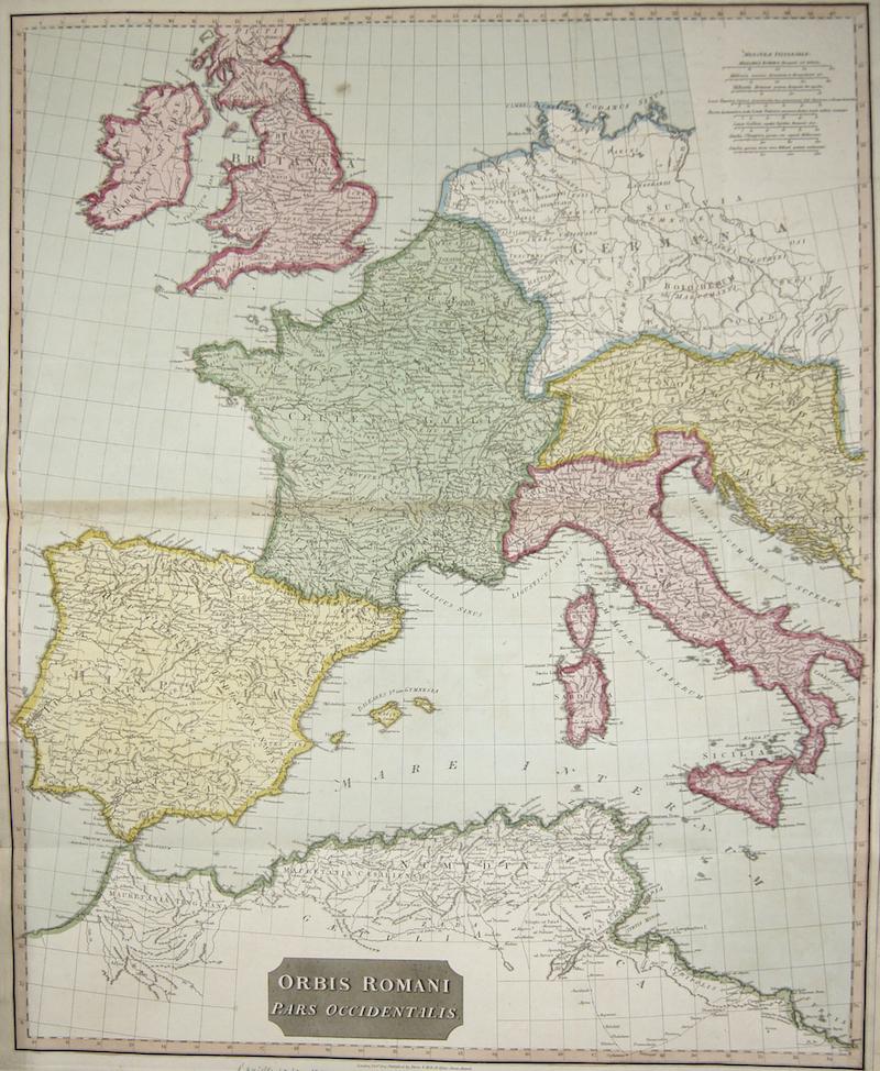 Anville´d  Orbis Romani Pars Occidentalis.
