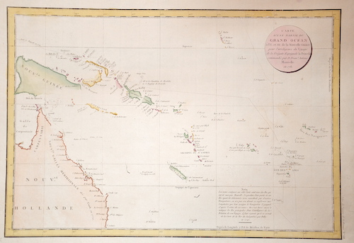 Cook/ Whitchurch James / Gulielmus Carte d´une partie du Grand Ocean….