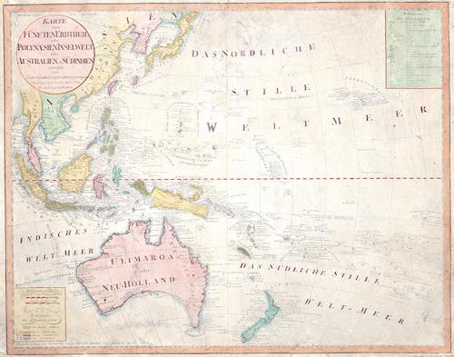 Homann Erben  Karte vom Fünften Erdtheil