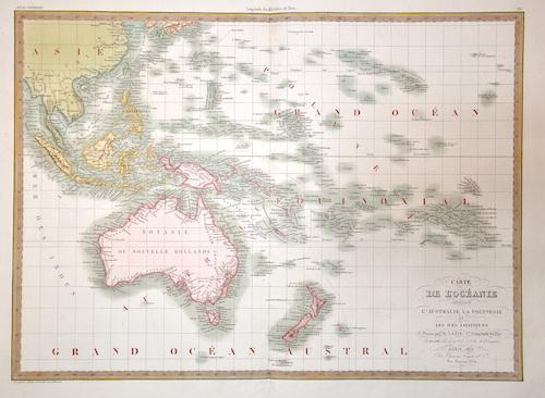 Lapie Alexandre Emile Carte de l'Océanic…