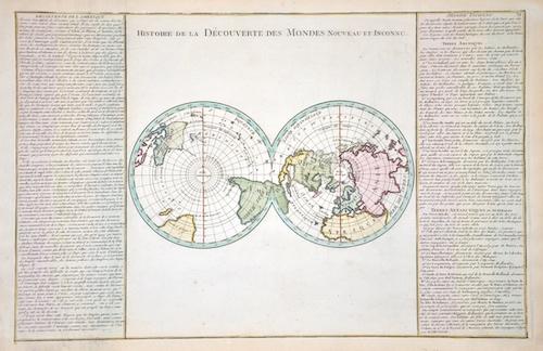 Bonne Rigobert Histoir de la decouverte des Mondes nouveau et inconue