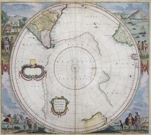 Hondius Hendrik Polus Antarcticus