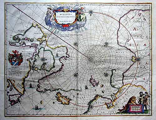 Coronelli Vicenzo Maria Regiones sub Polo Arctico