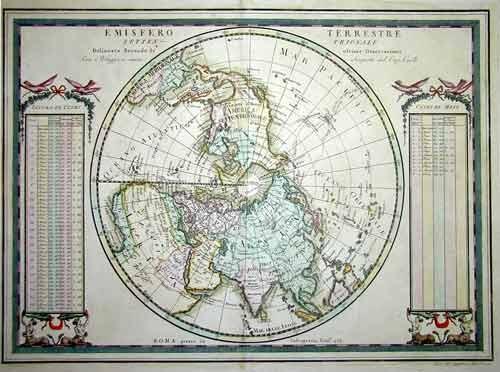 Cassini Giovanni Maria Emisfero Terrestre Settentrionale