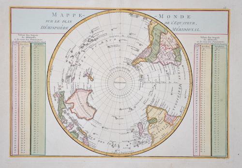 Anonymus  Mappe Monde sur le plan de l´ equateur, Hemisphere meridionale