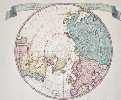 Tirion Isaak Neuwe Kaart van de Noord Pool