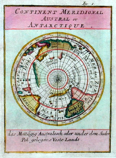 Mallet  Continent meridional Austral ou Antartique