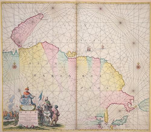 Keulen Johannes van Pascaarte vande Noord Oost Cust van Asia……….van Japan tot nova Zemla