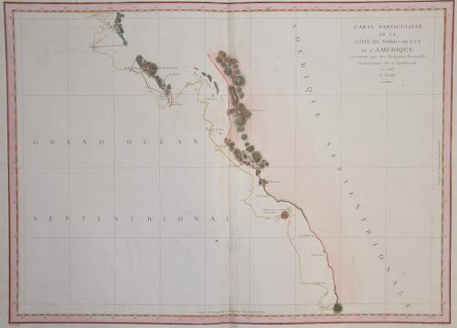 Pérouse, la Jean Francois Carte particuliere de la cote du Nord- Ouest de l´ Amerique reconnue par le fregatte Francais……