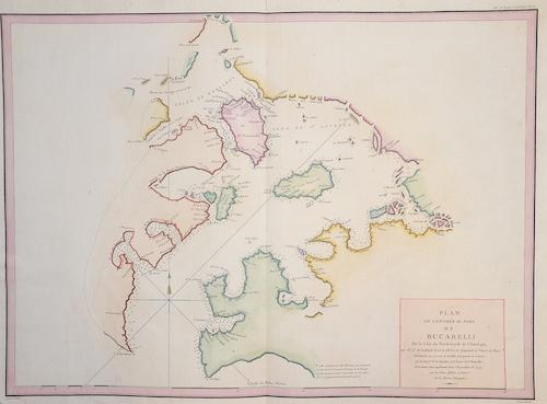 Pérouse, la Jean Francois Plan de l´entrée du Port de Bucarelli