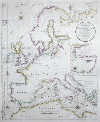 Schraembl Franz Anton Uebersicht der Europaeischen Seeküsten verfasst von Herrn Caington Bowles
