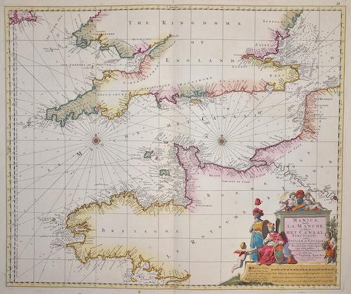 Visscher Nicolas Manica , Gallis la manche , et Belgis het Canaal pars Oceani