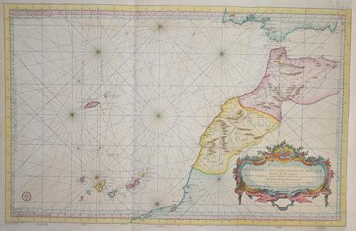 Bellin Jacques Nicolas Carte reduite des costes occidentales d´Afrique….