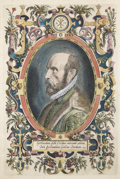 Ortelius Abraham Spectandum dedit Ortelius mortalib. Orben, Orbi Spectandum Galeus Ortelium