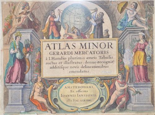 Janssonius Johann Atlas Minor Gerardi Mercatoris a I. Hondio plurimis aeneis Tabulis auctus et illustratus: denuo recognit,..
