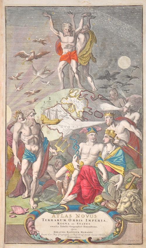 Homann Johann Babtiste Atlas novus terrarum orbis imperia, regna et status exactis tabulis geographice demonstrans