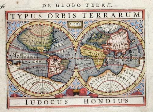Hondius  Typus Orbis Terrarum