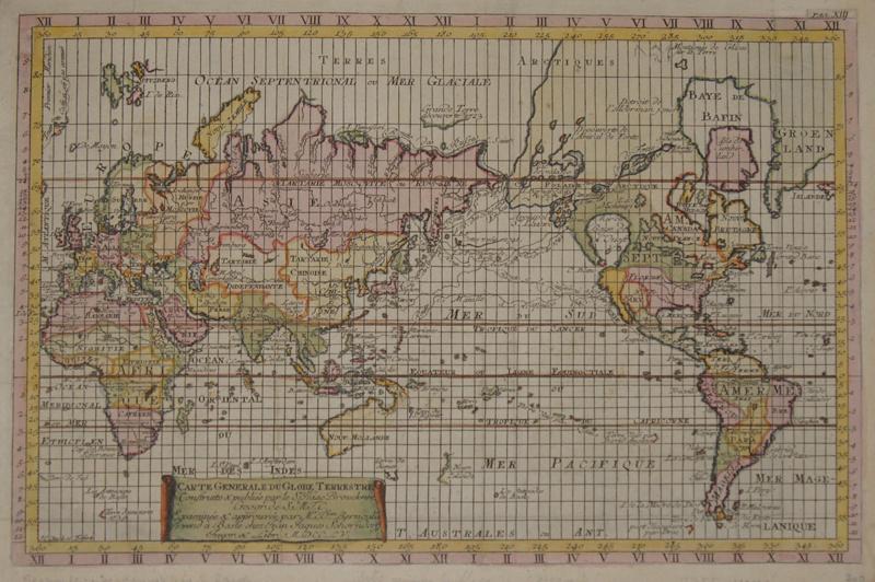 Bernoulli  Carte generale du Globe Terrestre…….