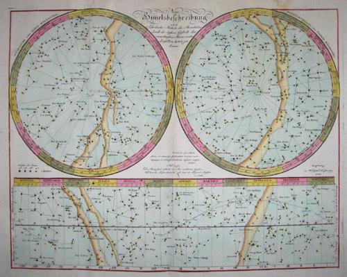 Walch Johann Neue Himmelsbeschreibung oder sehr leicht Methode die Sternbilder durch die äußere Gestallt der vornehmesten Sterne unter denselben kennen zu lernen..