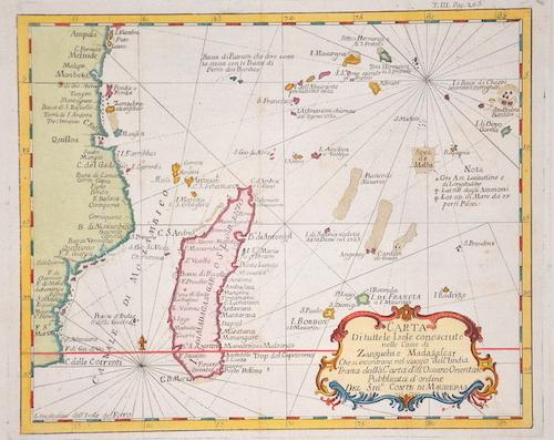 Maurepas, Comte de  Carte de Toutes les Isles Connues a la Coste de Zangueba et Madagascar….