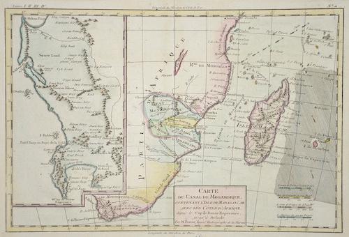 Bonne  Carte Du Canal De Mosambique, Contenant L´Isle De Madagascar Avec Les Cotes D´Afrique