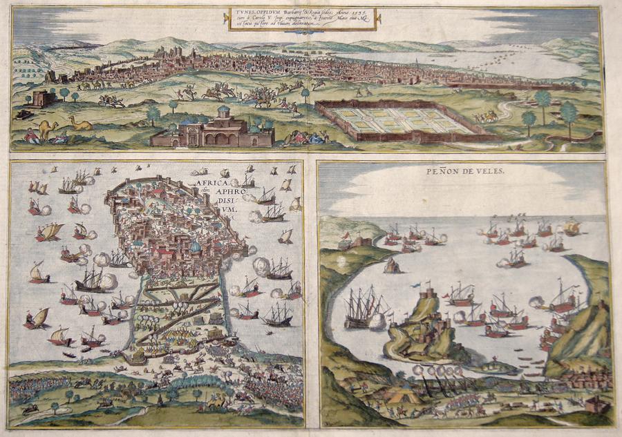 Braun/Hogenberg  Tunes, oppidum barbarie  Regia sedes, anno 1535