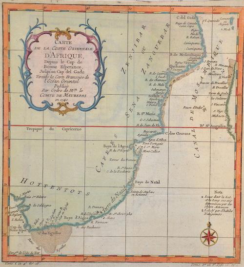 Fer, de  Carte de la coste orientale d´Afrique….