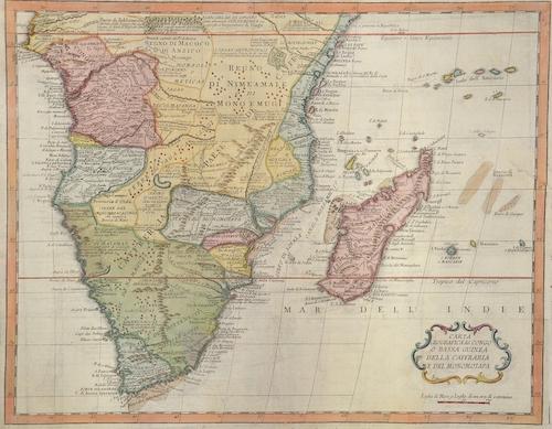 Magini  Carta geographica dell Congo o bassa Guinea della Caffraria e dell Monomotapa