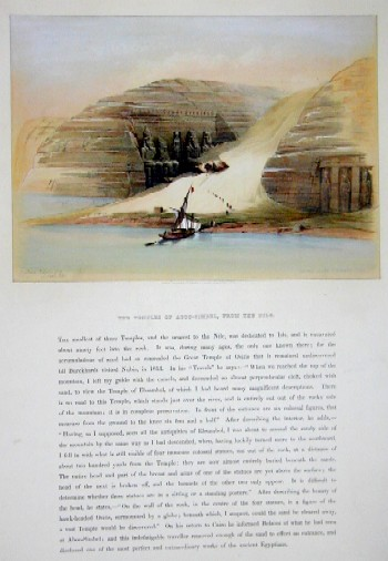Vaugondy, de  The temples of Aboo-Simbel, from the Nile