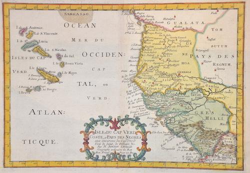 Sanson  Isles du Cap Vert coste, et Pais des Negres aux environs du CapVert…..