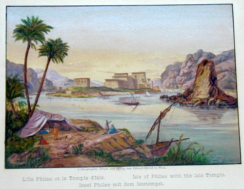 Hoelzel E. Insel Phailae mit dem Isis Tempel/ Isle of Philae with the Isis- Temple