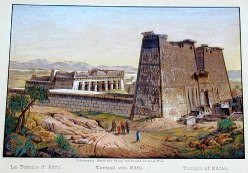 Hoelzel  Tempel von Edfou
