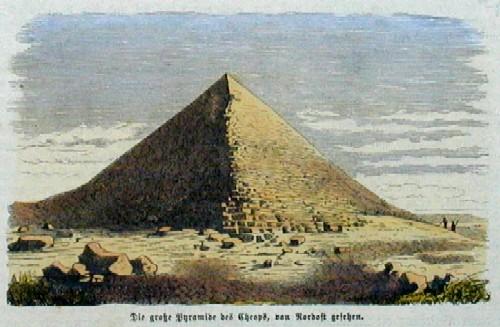Anonymus  Die große Pyramide des Cheops, von Nord-Ost gesehen