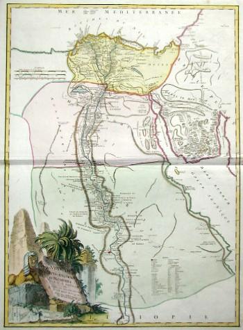 Vaugondy,de  Carte de l´Egypte ancienne et moderne…..