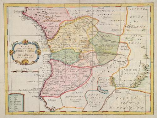 Anonymus  Carta die regni di Kongo Angola, e Benquela