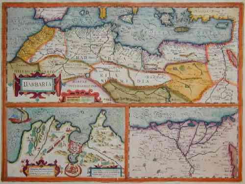 Hondius  Barbaria, Tunis capta et in christianorum poestatem redata a Carol, quinto anno 1535 at postea magna cum eorundem….