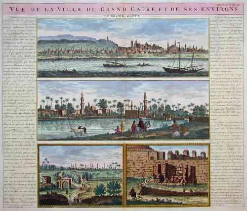 Chatelain  Vue de la ville du grand Caire, et de ses environs