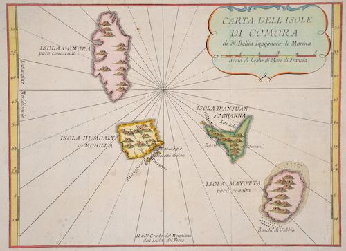Bellin Jacques Nicolas Carta dell isole di Comora