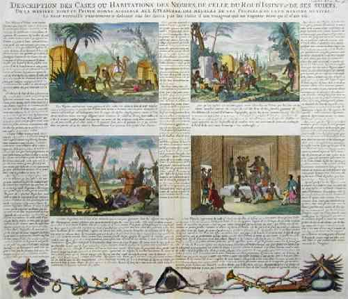 Chatelain  Description des Cases ou Habitations des Negres, de celle du Roi d´Issiny et de ses Suits