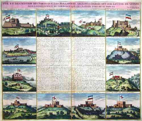 Chatelain  Vue et description des Forts Que Les Hollandois, Anglois, et Danois ont sur la cote de Guinee