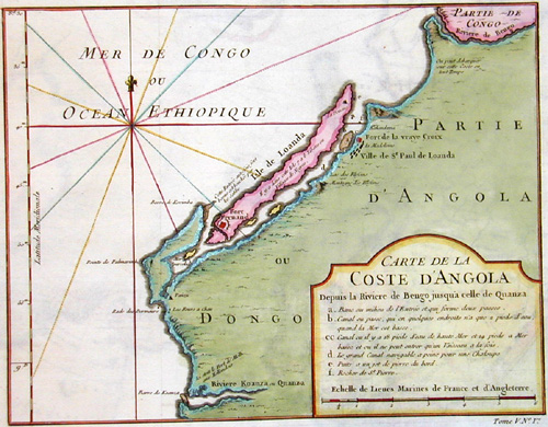 Anonymus  Carte de la coste d´ Angola