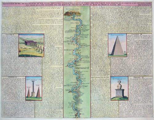 Chatelain  Description du Nil de ses sources, son cours depuis les Cataractes justques au Caire