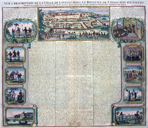 Chatelain Henri Abraham Vue and description de la ville de Lovango dans le Royaume de Kongo avec plusieurs ……..