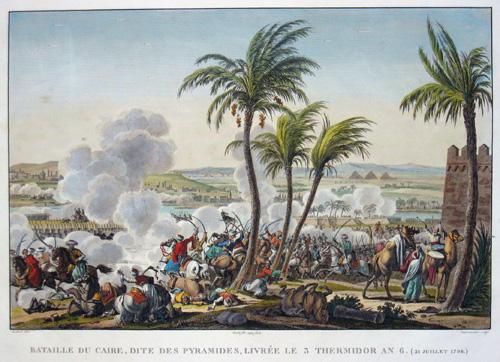 Dequevauvilers  Bataille du Caire, dite des Pyramides, livree les 3 Thermidor an 6. (21 jillet 1798)
