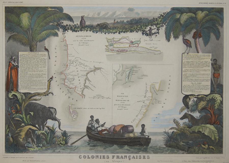 Lemercier / Levasseur  Colonies Francaises en Afrique