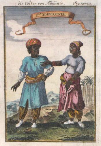 Mallet  Die Völker von Abissinie / Ples d´Abissinie