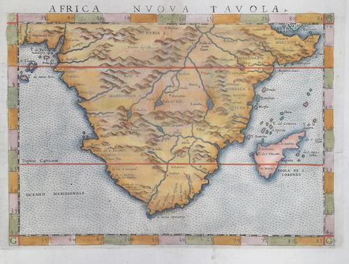 Ptolemy/ Ruscelli Claudius Africa nuova Tavola