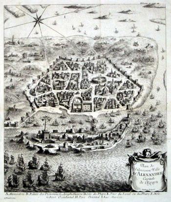 Mathey  Plan de l´ancienne Ville d´ Alexandrie Capitale de l´Egypte