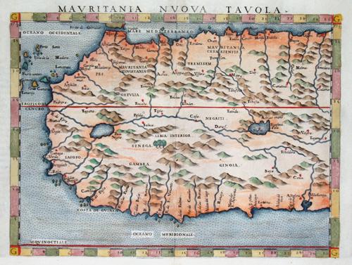 Ruscelli Girolamo Mauritania nuova tavola
